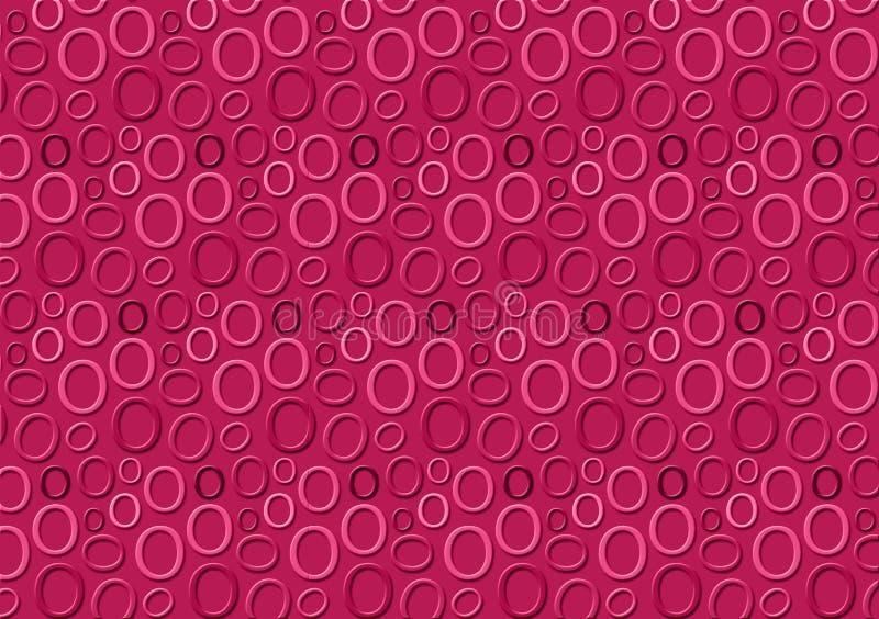 Brieveno patroon in verschillende gekleurde roze schaduwen voor behang royalty-vrije illustratie