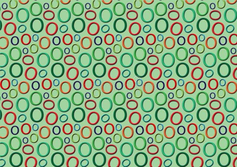 Brieveno patroon in verschillende gekleurde schaduwen voor behang vector illustratie