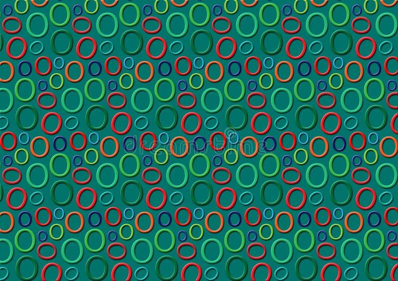 Brieveno patroon in verschillende gekleurde schaduwen voor behang stock illustratie
