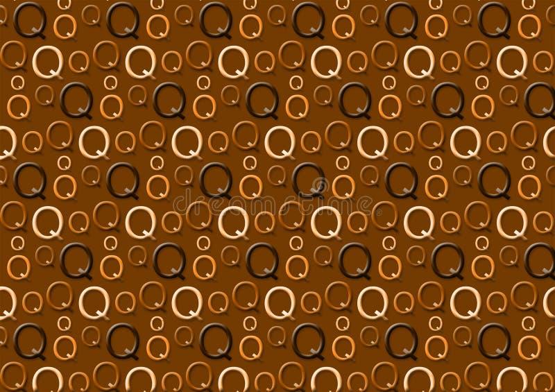 Brievenq patroon in verschillende gekleurde bruine schaduwen royalty-vrije illustratie