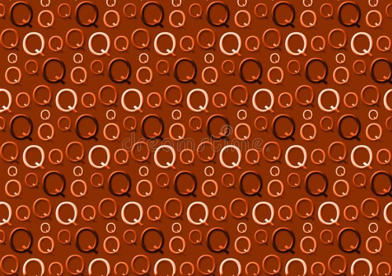 Brievenq patroon in verschillende gekleurde bruine schaduwen stock illustratie