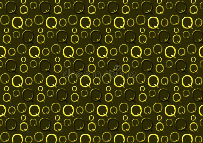 Brievenq patroon in verschillende gekleurde groene schaduwen royalty-vrije illustratie