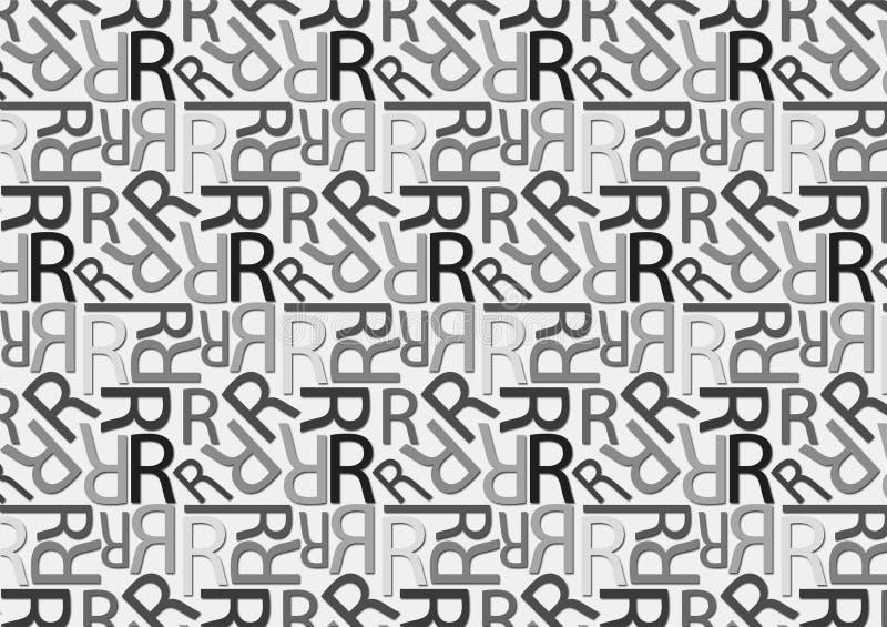 Brievenr patroon in verschillende gekleurde grijze schaduwen voor behang vector illustratie