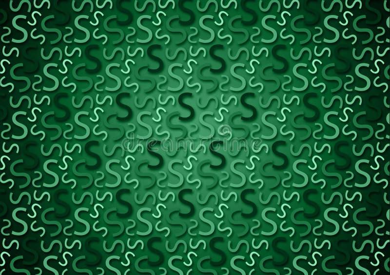 Brievens patroon in verschillende gekleurde groene schaduwen voor behang royalty-vrije stock afbeeldingen
