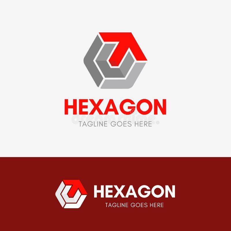 Brievent Hexagon Embleem stock illustratie