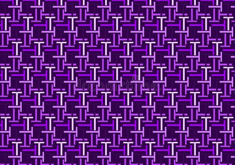 Brievent patroon in verschillende gekleurde purpere schaduwen royalty-vrije illustratie
