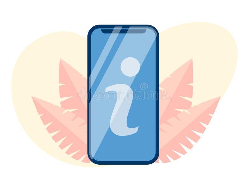 Brieventeken i op het Mobiele Vlakke Beeldverhaal van het het Schermknipsel stock illustratie