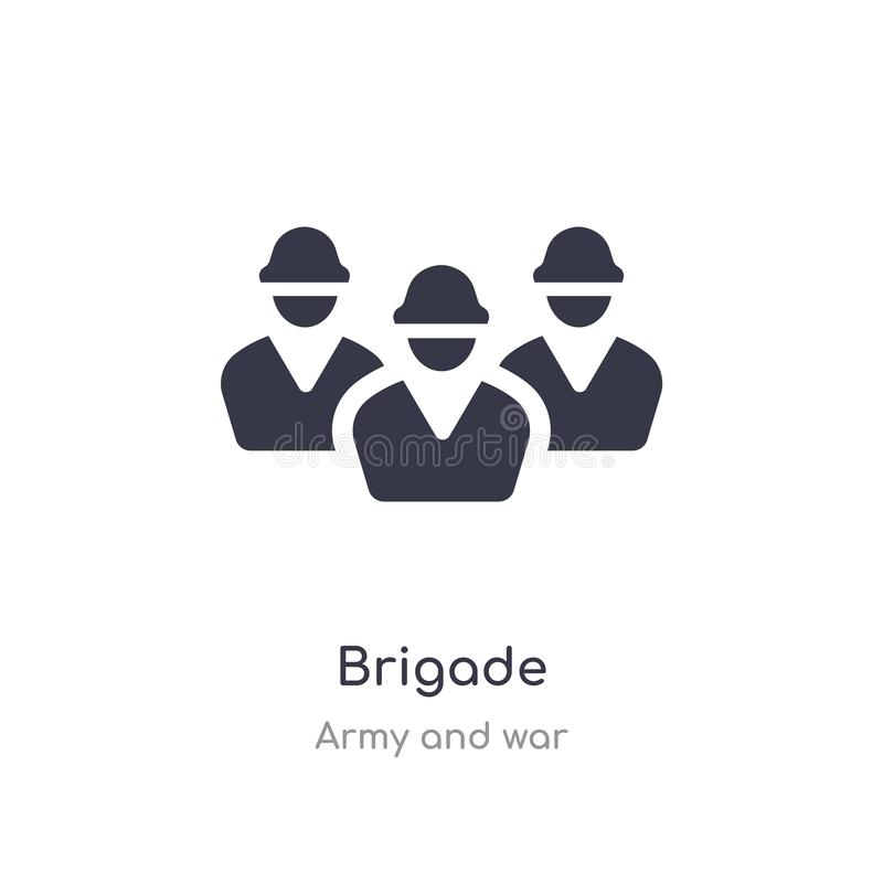 brigade icon. isolated brigade icon vector illustration from army and war collection. editable sing symbol can be use for web site vector illustration
