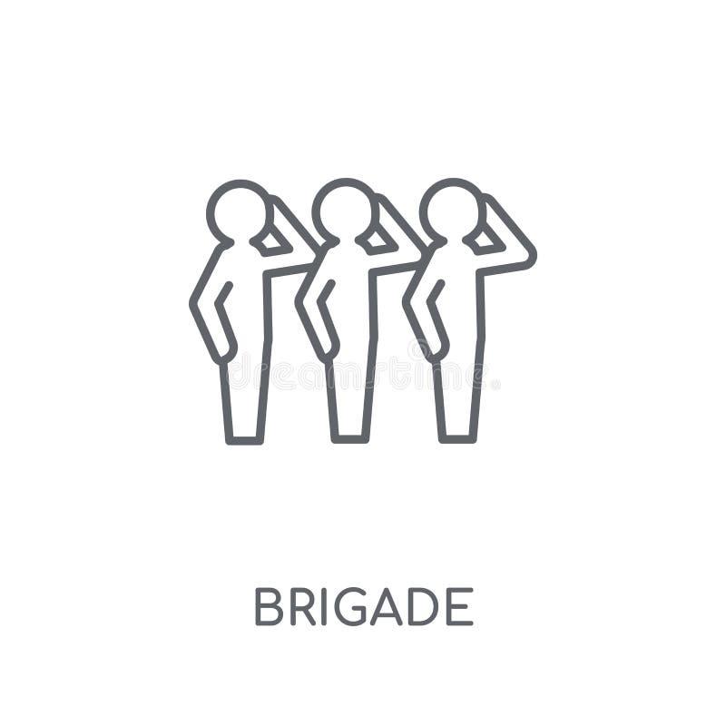 brigade lineair pictogram Modern het embleemconcept van de overzichtsbrigade op whit vector illustratie