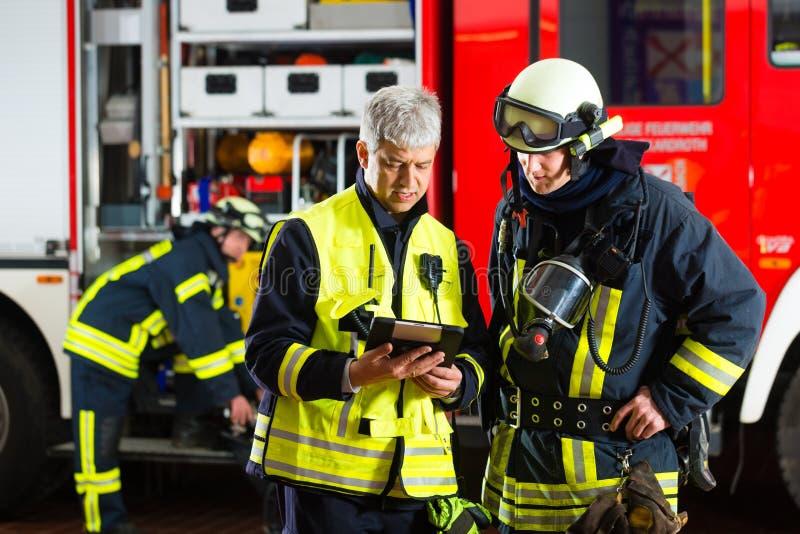 De brigadeplaatsing van de brand planning stock fotografie
