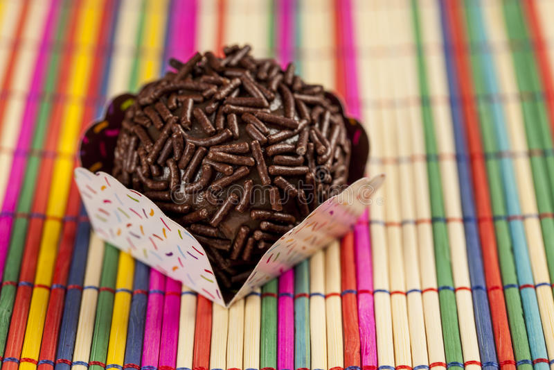Brigadeiro. A brazilian sweet stock image