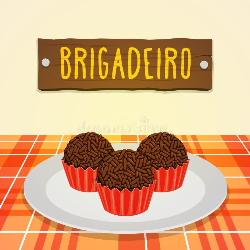 Brigadeiro - caramella brasiliana royalty illustrazione gratis