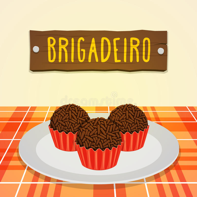 Brigadeiro - caramelo brasileño libre illustration