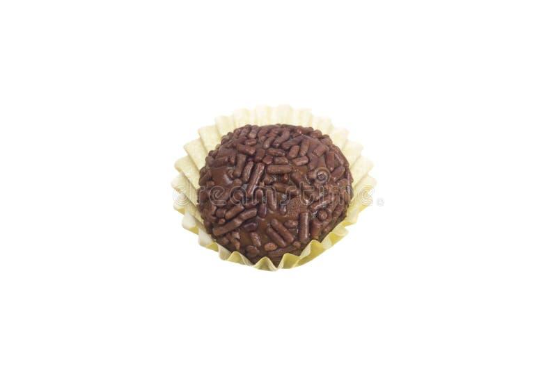 Brigadeiro jest czekoladowym truflą od Brazylia Kakao i sprinkl obraz royalty free