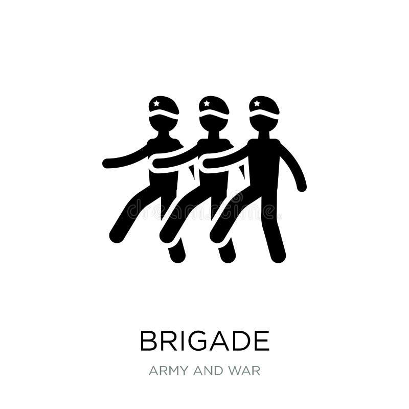 brigadepictogram in in ontwerpstijl brigadepictogram op witte achtergrond wordt geïsoleerd die eenvoudige en moderne vlakke symbo stock illustratie