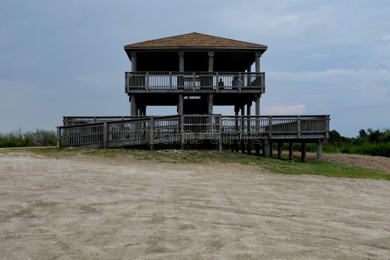 Brigantine North End Observation Tower. Observation tower at north end of Brigantine Island, New Jersey, Atlantic Ocean shore stock image