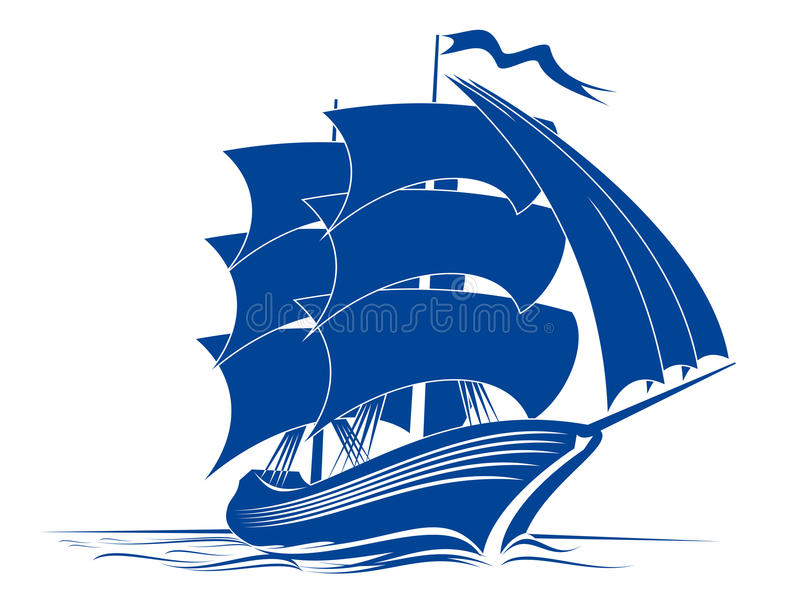 Brigantine ship royalty free stock photo