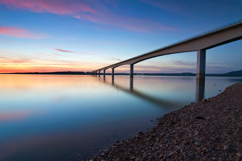 Brige over Guadiana River, Portugal royalty free stock photo