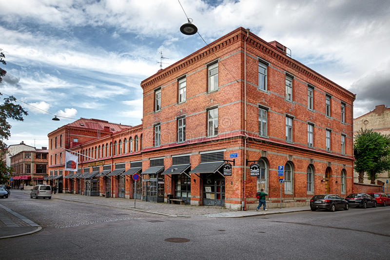 Briggen food market hall in Gothenburg. stock photography