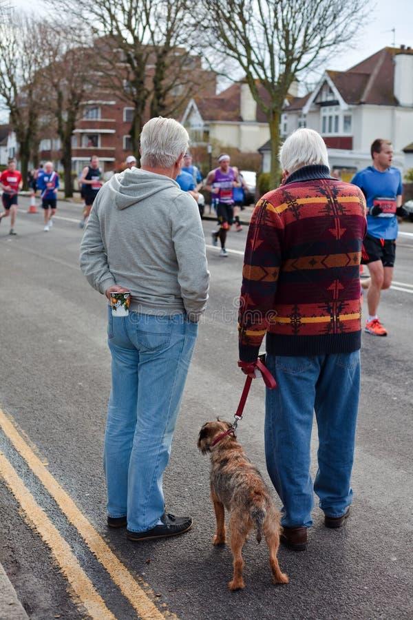 Brigghton e maratona Hove fotos de stock royalty free