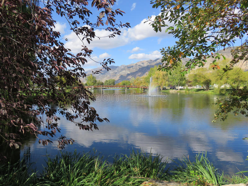 Brigham City Park stock afbeeldingen