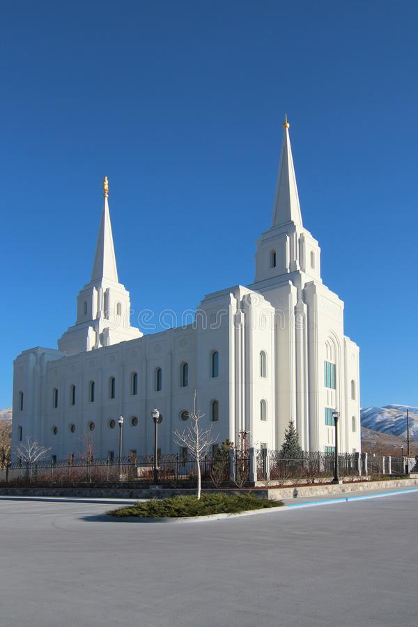 Brigham City Utah fotografering för bildbyråer