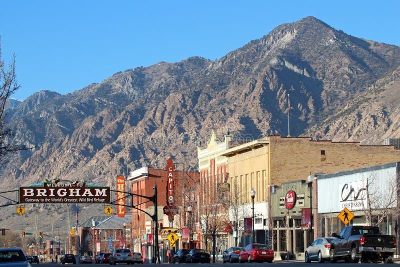 Brigham miasto, Utah obrazy royalty free