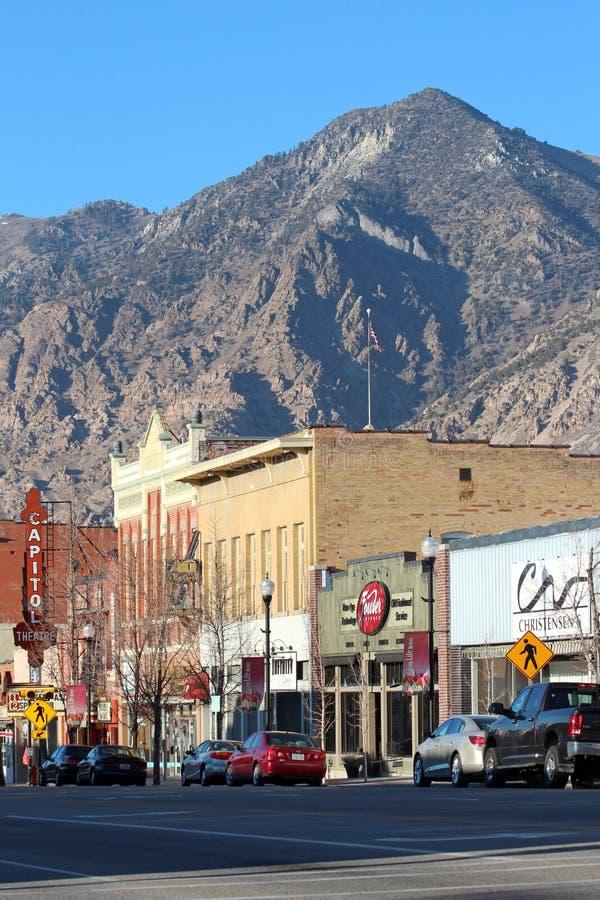 Brigham miasto, Utah zdjęcia royalty free