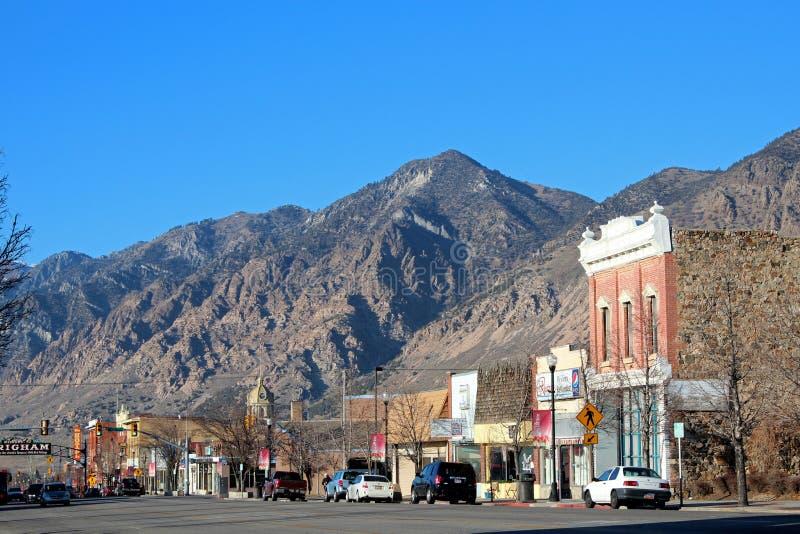 Brigham miasto, Utah obrazy stock