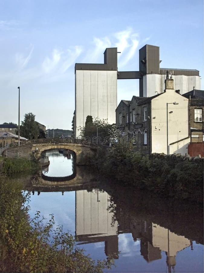 Brighouse Calder Hebble Canal fotos de archivo libres de regalías