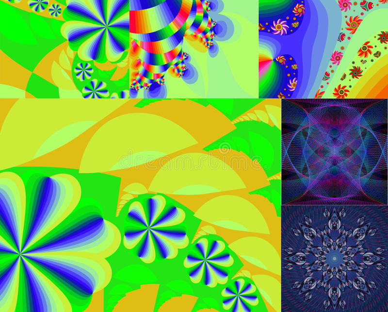 Bright abstract backgrounds. stock illustration