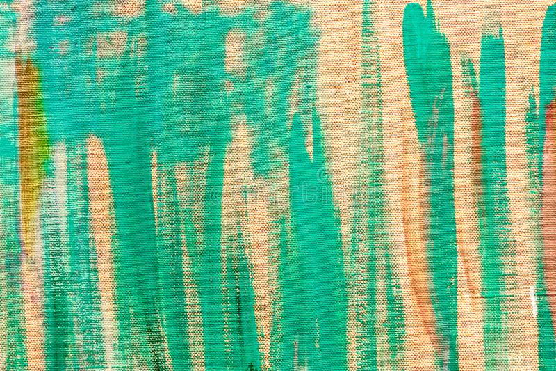 Bright abstract canvas background with green brush strokes royalty free stock photography