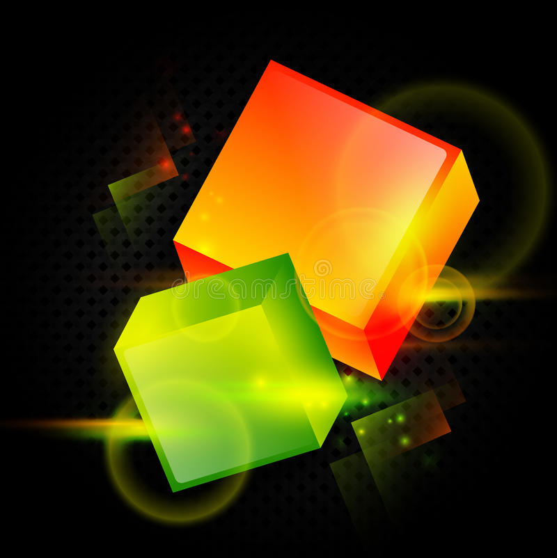 Download Bright abstract cubes stock vector. Image of glowing - 20991580