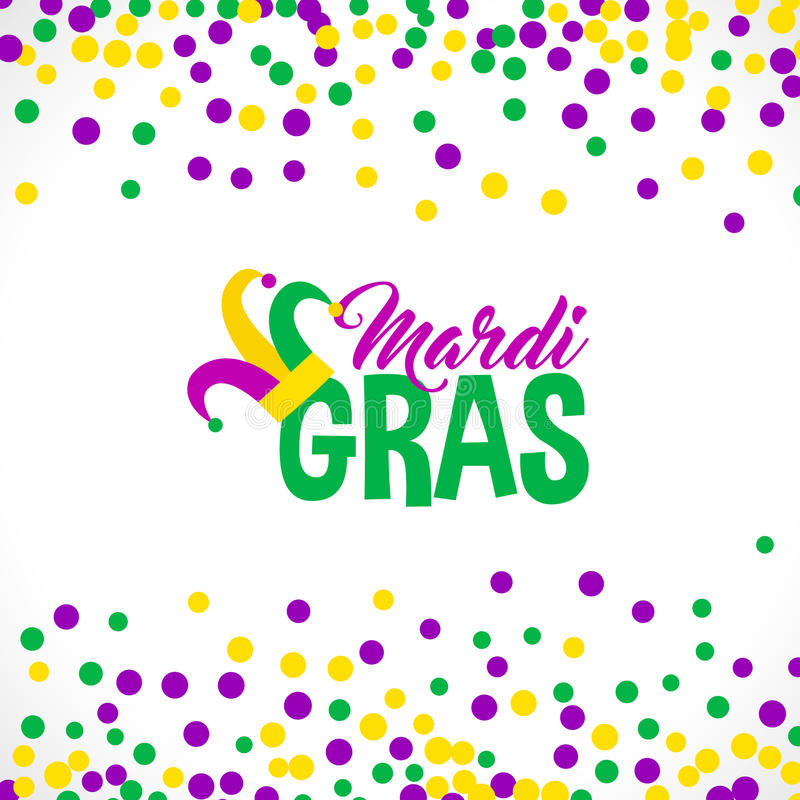Bright abstract dot mardi gras pattern royalty free illustration