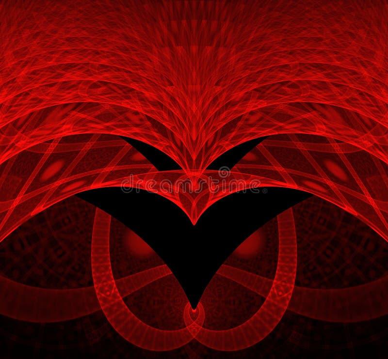 Fractal eagle fantasy royalty free illustration