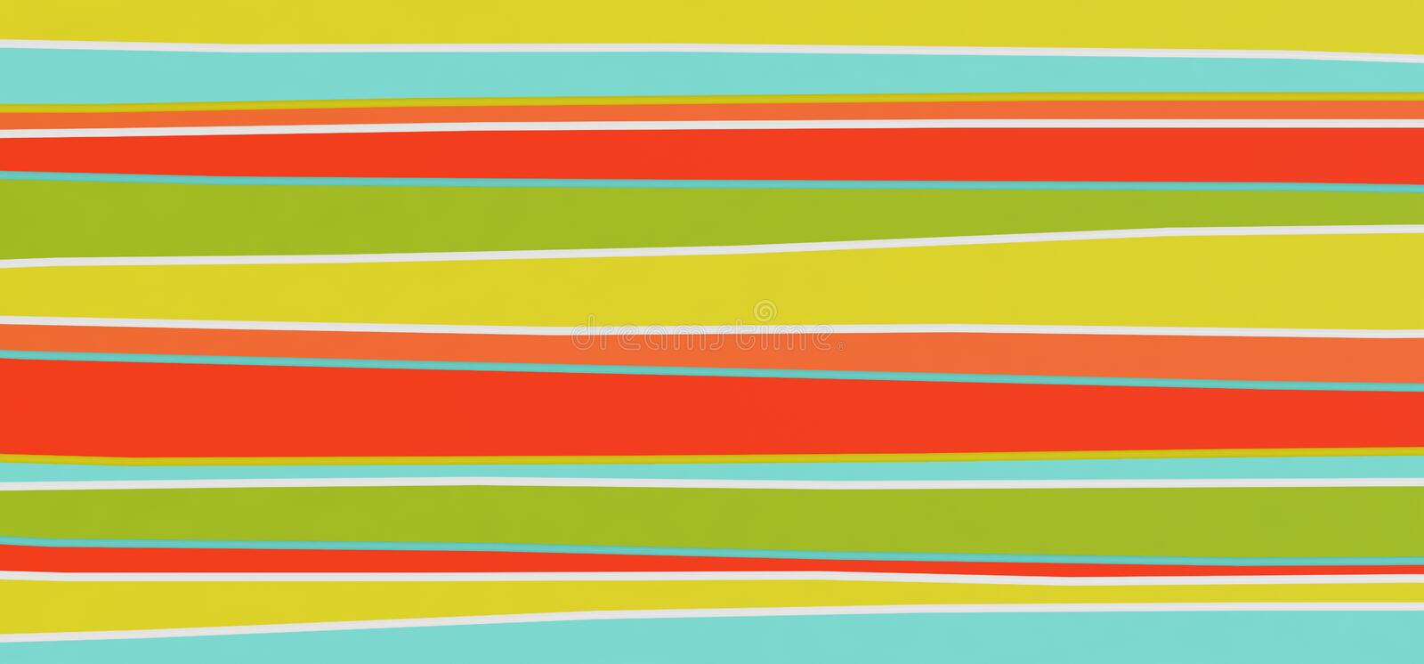 Bright abstract multicolored stripes background - 3D illustration royalty free illustration