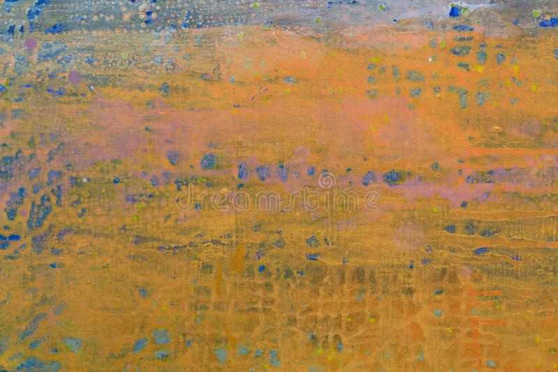 Bright abstract painting in different style close up. royalty free stock photos