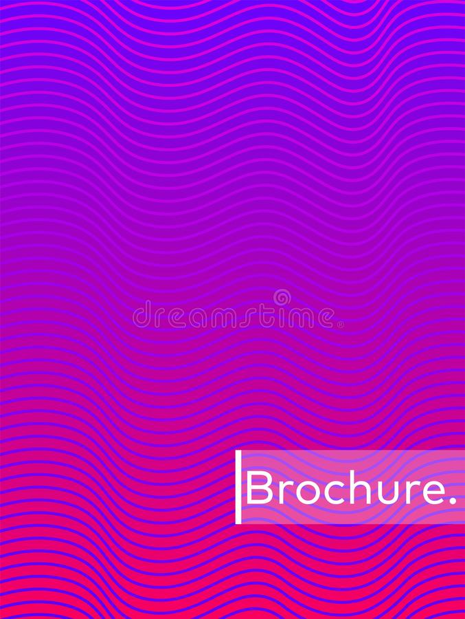 Bright abstract pattern background with line texture for business brochure cover design. Gradient royalty free illustration