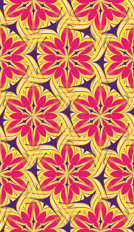 Bright abstract pattern pink yellow stock illustration