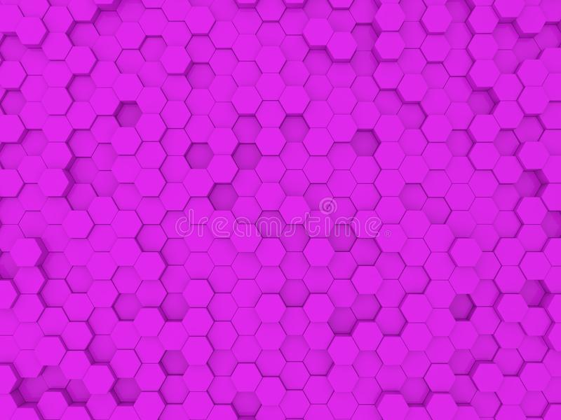 Bright abstract pink background from hexagons . stock illustration