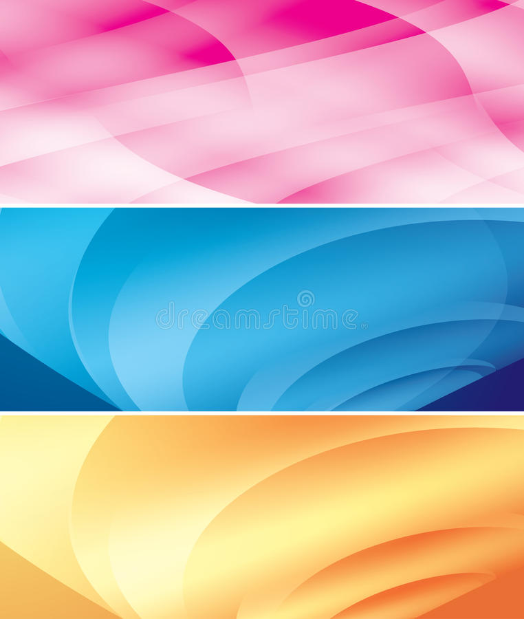 Bright abstract vector backgrounds - set stock illustration