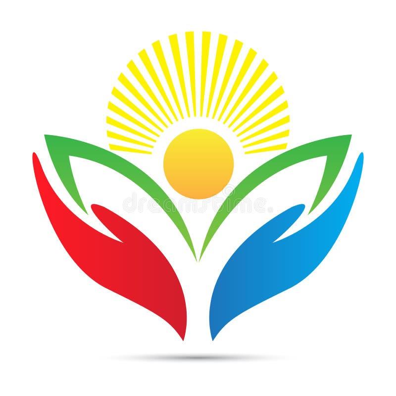 Bright academic education emblem school college university success logo design stock illustration