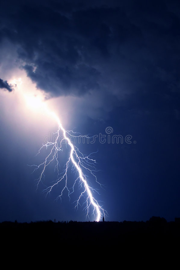 Bright amazing lightning bolt royalty free stock image