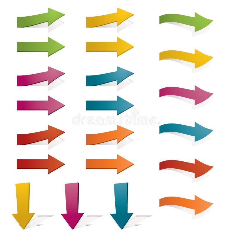 Download Bright arrows stock vector. Image of magenta, sign, clip - 19638443