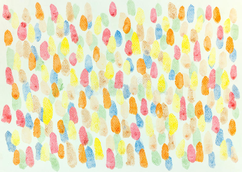 Bright artistic painting with blots. decorative chaotic colorful royalty free stock image