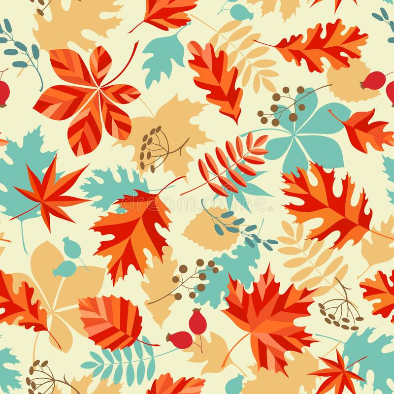 Bright autumn royalty free illustration
