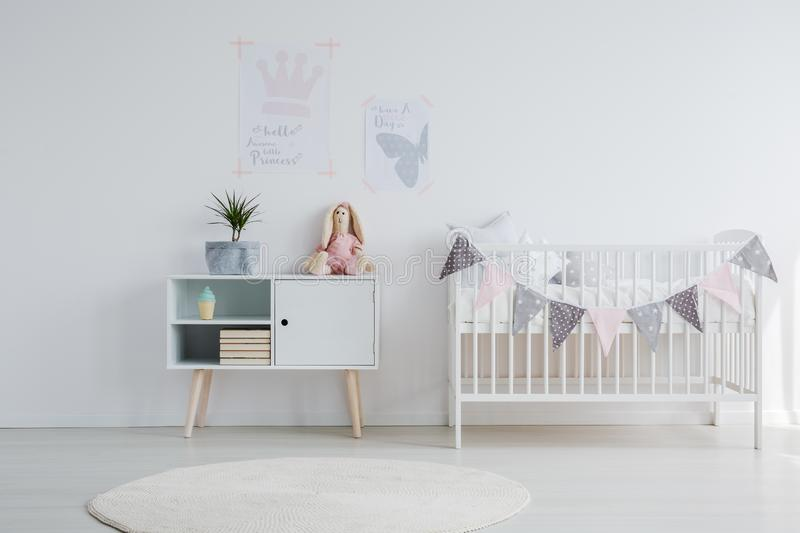 Bright baby room royalty free stock photos
