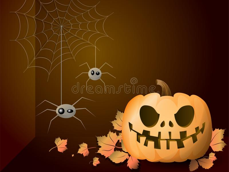 Bright background for a holiday of halloween. With an inscription on the center. royalty free illustration