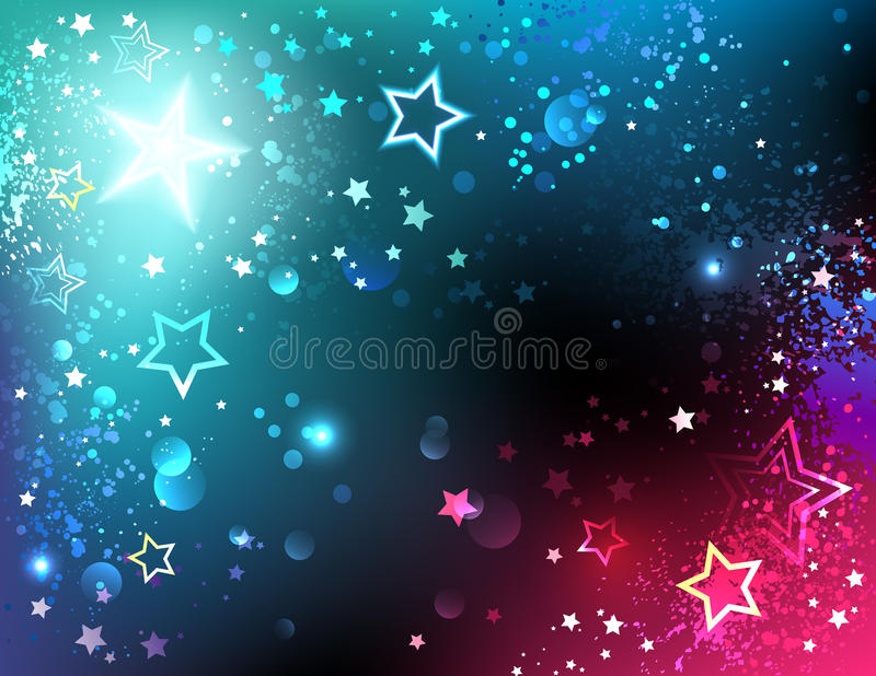 Bright background with stars vector illustration