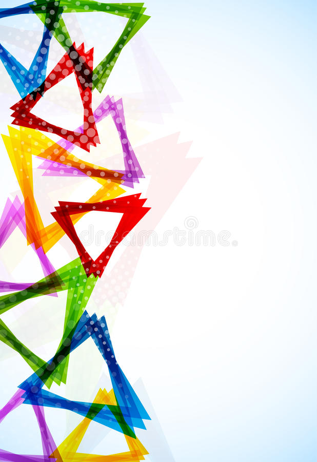 Download Bright Background With Triangles Stock Vector - Image: 26377233